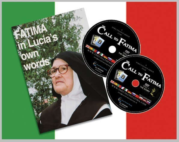 """Fatima in Lucia's own Words"" + 2 DVDs ""The Call to Fatima"" Italian Edition"