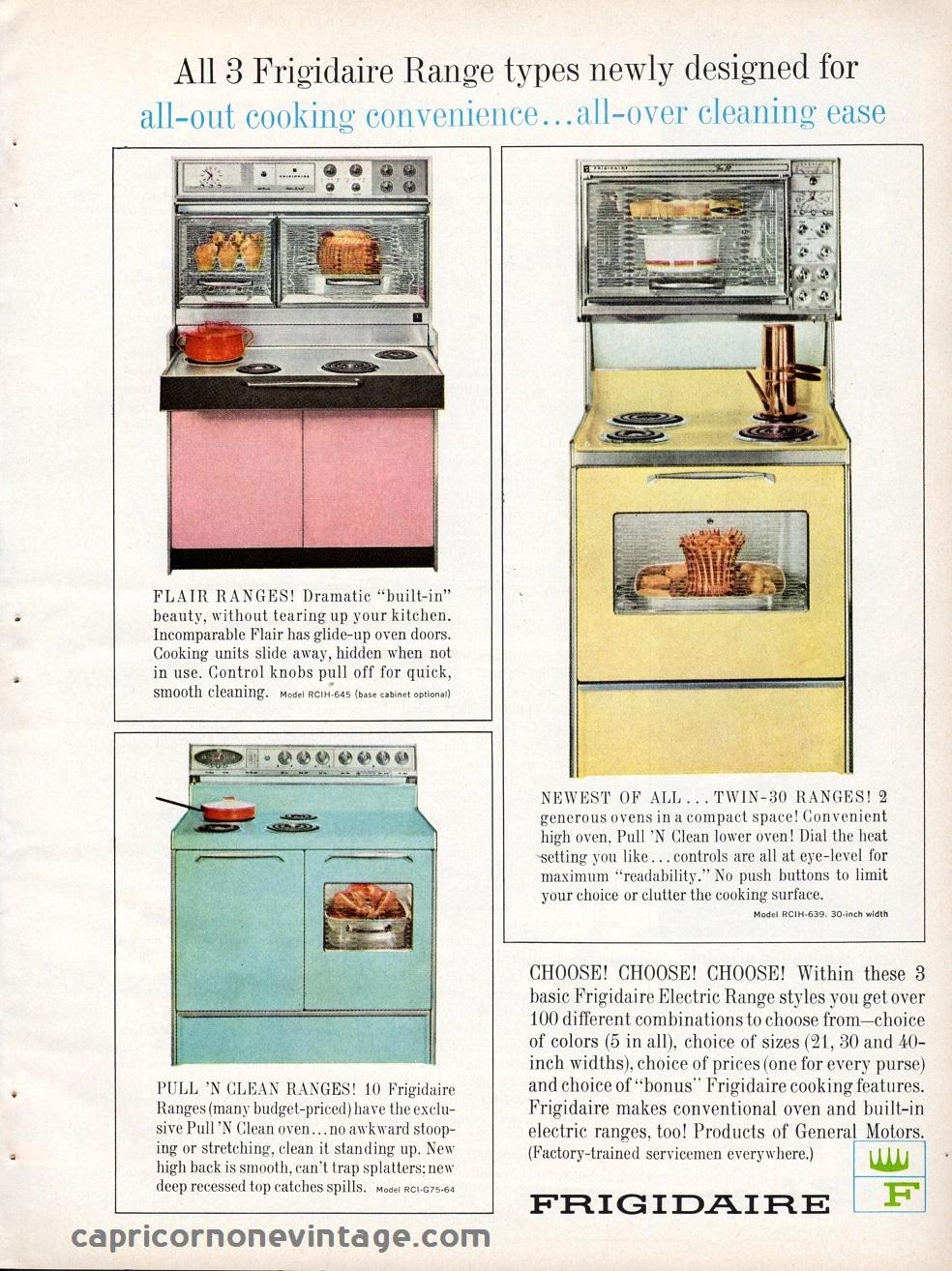 1964 frigidaire oven magazine ad mid century stove vintage advertising retro - Range magazine mural ...