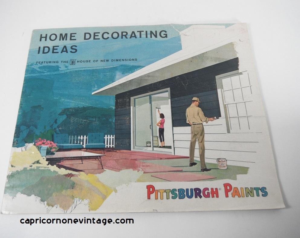 1965 Pittsburgh Paints Brochure Home Decorating Ideas Booklet Paint ...