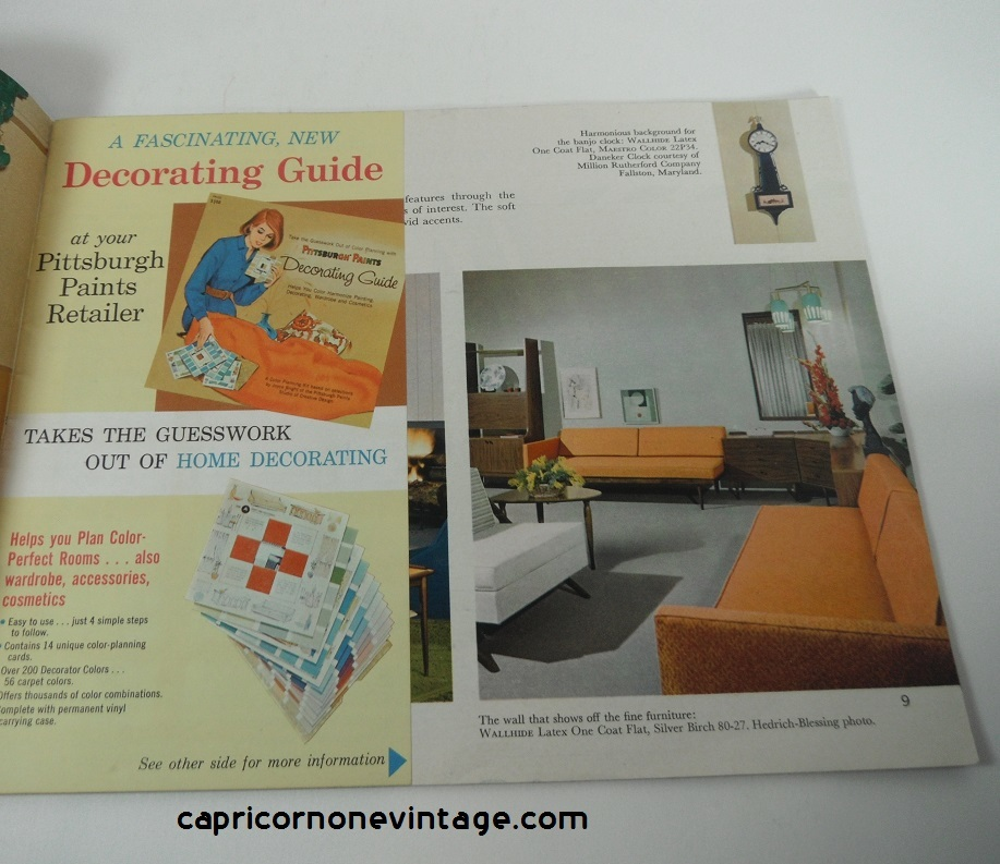 1965 pittsburgh paints brochure home decorating ideas for Painting and decorating advertising ideas