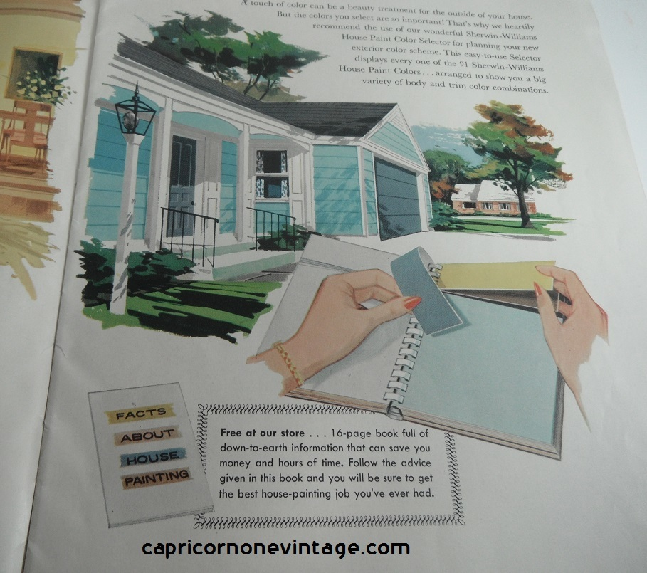 Sherwin Williams 1959 Home Decorator And How To Paint Book Paint ...