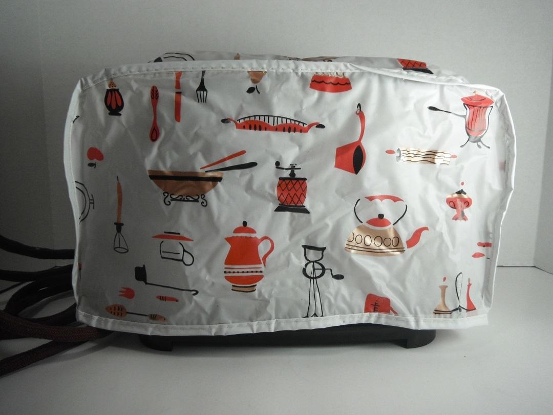 vinyl toaster u0026 mixer cover set vintage kitsch retro kitchen decor