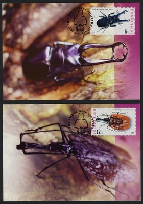 Thailand 1981-4 on Maxi Cards - Insects