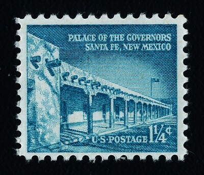USA 1031a Shiny Gum MNH Palace of the Governors, Santa Fe