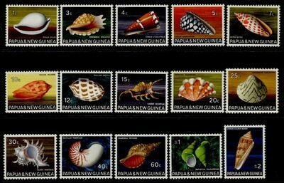 Papua New Guinea 265-79 MNH Shells