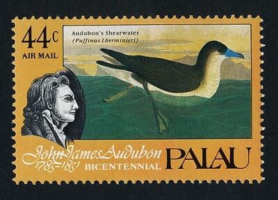 Palau C5 MNH Birds, Audubon painting