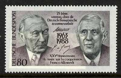 Germany 1546 MNH Charles De Gaulle, Adenauer