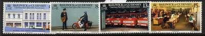 Guernsey 195-8 MNH Post Office, Van, Motorcycle, Mail