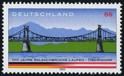 Germany 2245 MH Salzach River Bridge