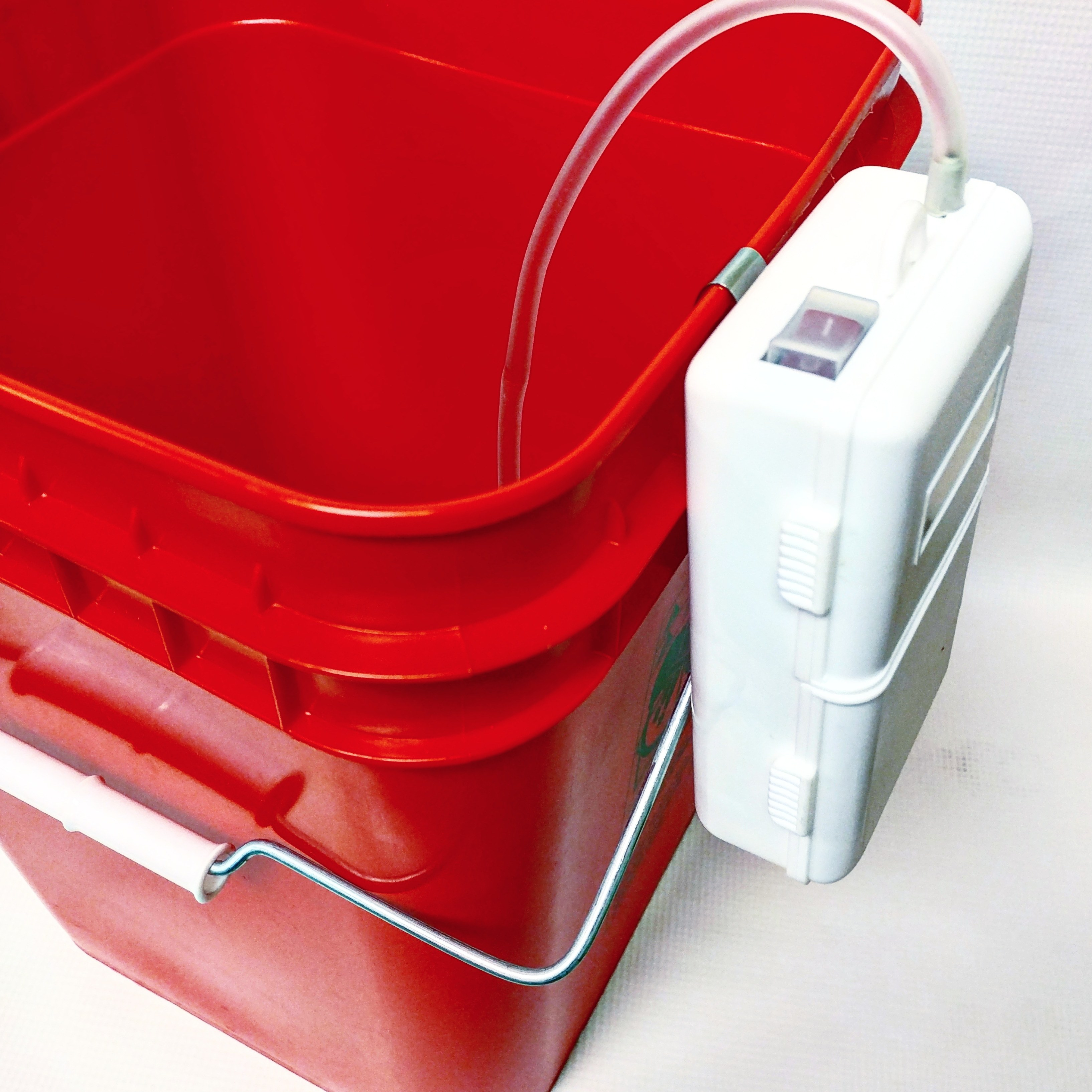 Pail, Open Head, Square, 4 gal, PE, Red BE21YK49