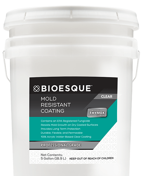 BIOESQUE MOLD RESISTANT COATING CLEAR 5 GALLON BMRCC5G