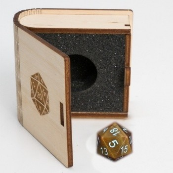 Gemstone Collectors Dice - Yellow Tiger Eye - D20 W20