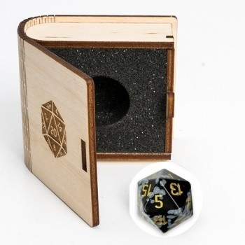 Gemstone Collectors Dice -Snowflake - D20 W20