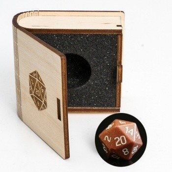 Gemstone Collectors Dice -Golden sand stone - D20 W20