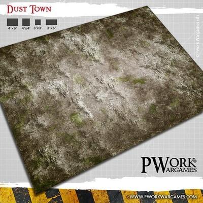 Dust Town - Wargames Terrain Mat PVC Vinyl - 3x6 - PWork Wargames