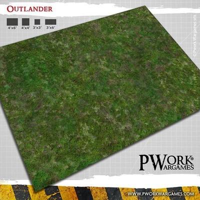 Outlander - Wargames Terrain Mat PVC Vinyl - 3x6 - PWork Wargames