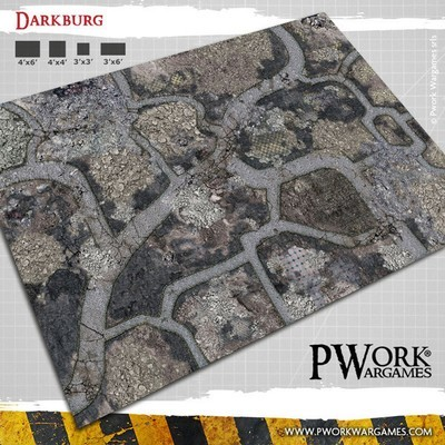 Darkburg - Wargames Terrain Mat PVC Vinyl - 3x6 - PWork Wargames