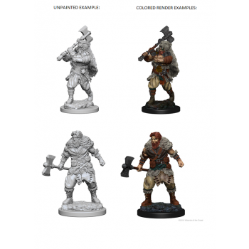 D&D Nolzur's Marvelous Miniatures - Human Male Barbarian WZK72643