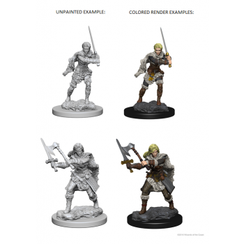 D&D Nolzur's Marvelous Miniatures - Human Female Barbarian WZK72644