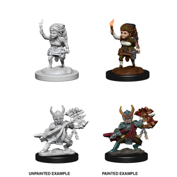 D&D Nolzur's Marvelous Miniatures: Female Halfling Fighter