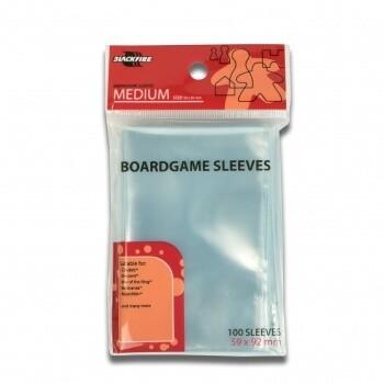 Boardgame Sleeves - Medium (59x92mm) - 100 Pcs - Blackf