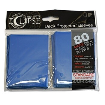 P - Standard Sleeves - PRO-Matte Eclipse - Blue (80 Sleeves)