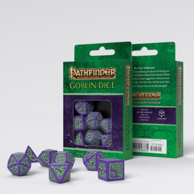Pathfinder Würfel Set Goblin Dice (7) - Q-Workshop