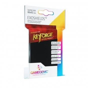 Gamegenic KeyForge Exoshields Tournament Sleeves - Black (40 Sleeves)