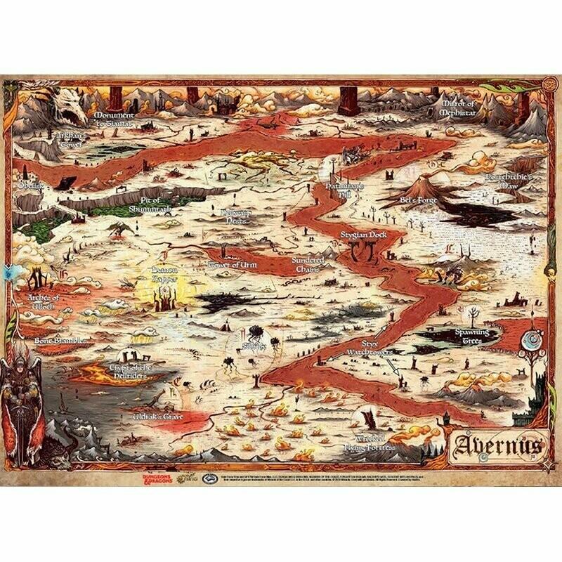 D&D Descent Into Avernus - Avernus Map (23' x 15') - Dungeons and Dragons