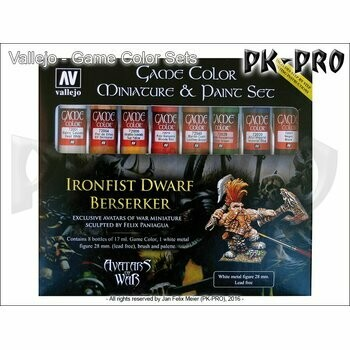 Game-Color-Miniature-Paint-Set-Avatar-(8x17mL+figure,-pencil) - Vallejo Game Color - Farbset