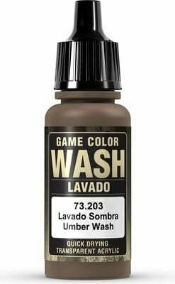 Game Color Wash Umber Shade 17ml - Vallejo - Farben