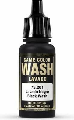Game Color Wash Black Shade 17ml - Vallejo - Farben