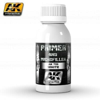 WHITE PRIMER AND MICROFILLER - AK Interactive