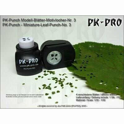 PK-Punch - Modell-Blätter-Motivlocher-Nr. 3 - (4xBlätter-Mix) - Pk-Pro