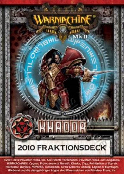 Khador MKII Kartenset - Fraktionsdeck 2010 - Warmachine - Privateer Press 011002PIP91048D
