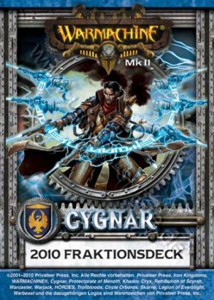 Cygnar MKII Kartenset - Fraktionsdeck 2010 - Warmachine - Privateer Press 011002PIP91046D