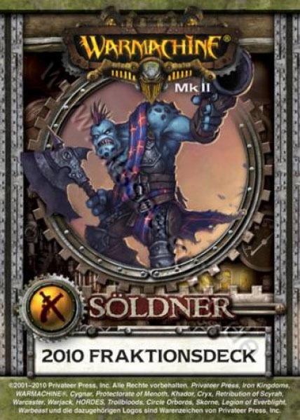 Söldner MKII Kartenset - Fraktionsdeck 2010 - Warmachine - Privateer Press 011002PIP91050D