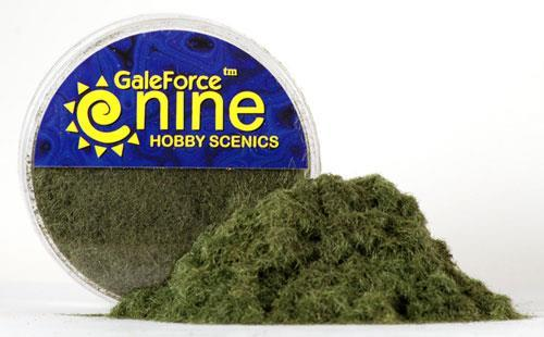 Hobby Round: Dark Green Static Grass - Gale Force 9 012001GFS014