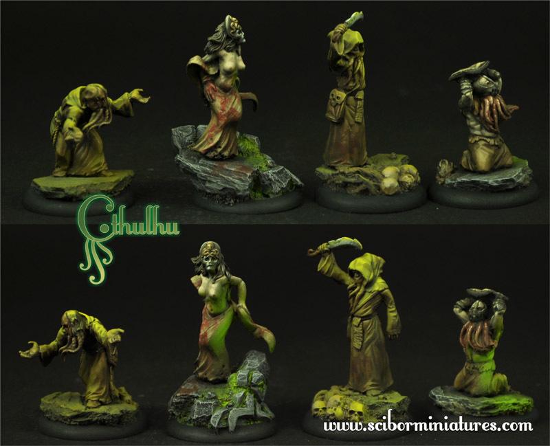 Cthulhu Cultists set - Scibor Miniatures 09000128CM0011