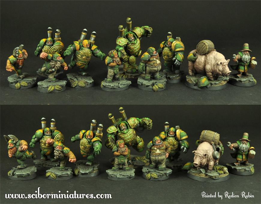 Dwarves Football Team 10 minis - Scibor Miniatures 09000128FF0014
