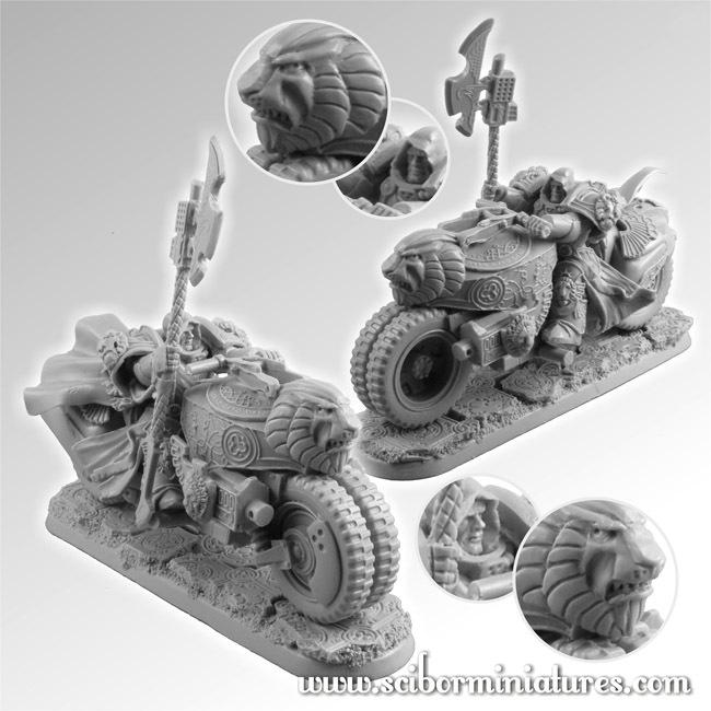 SF Lion Knight Motorcycle - Scibor Miniatures 09000128SF0095
