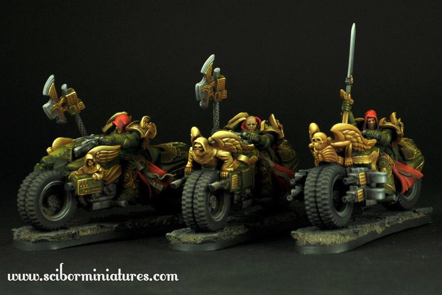 SF Knights Motorcycles set - Scibor Miniatures