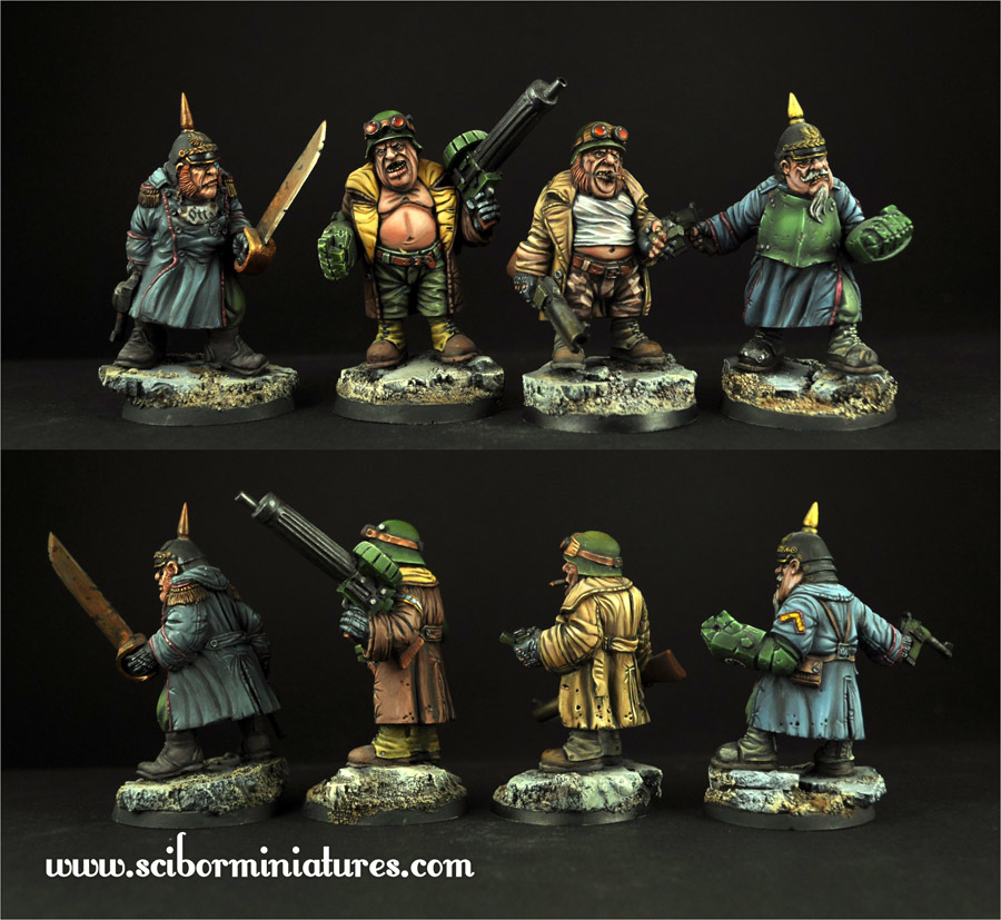SF Ogres Set - Scibor Miniatures 09000128SF0125