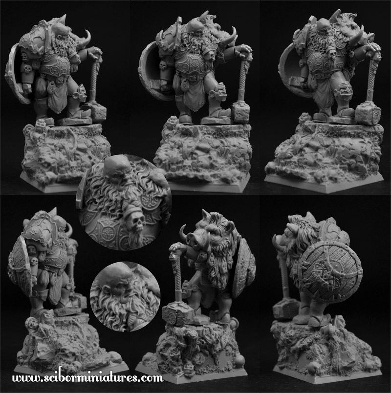 Ogre Chief - Scibor Miniatures 090001OGSE0017