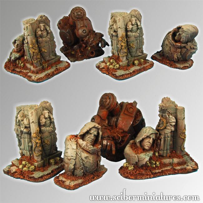Templar Ruins Terrain - Scibor Miniatures 090001TETR0006