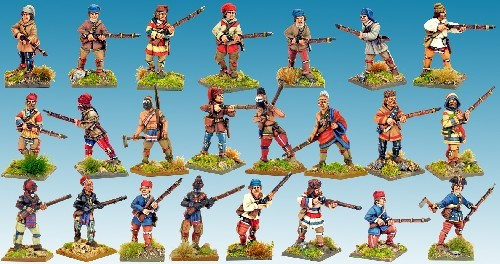 French Wilderness Force - Muskets and Tomahawks - North Star Figures 012001MTB03