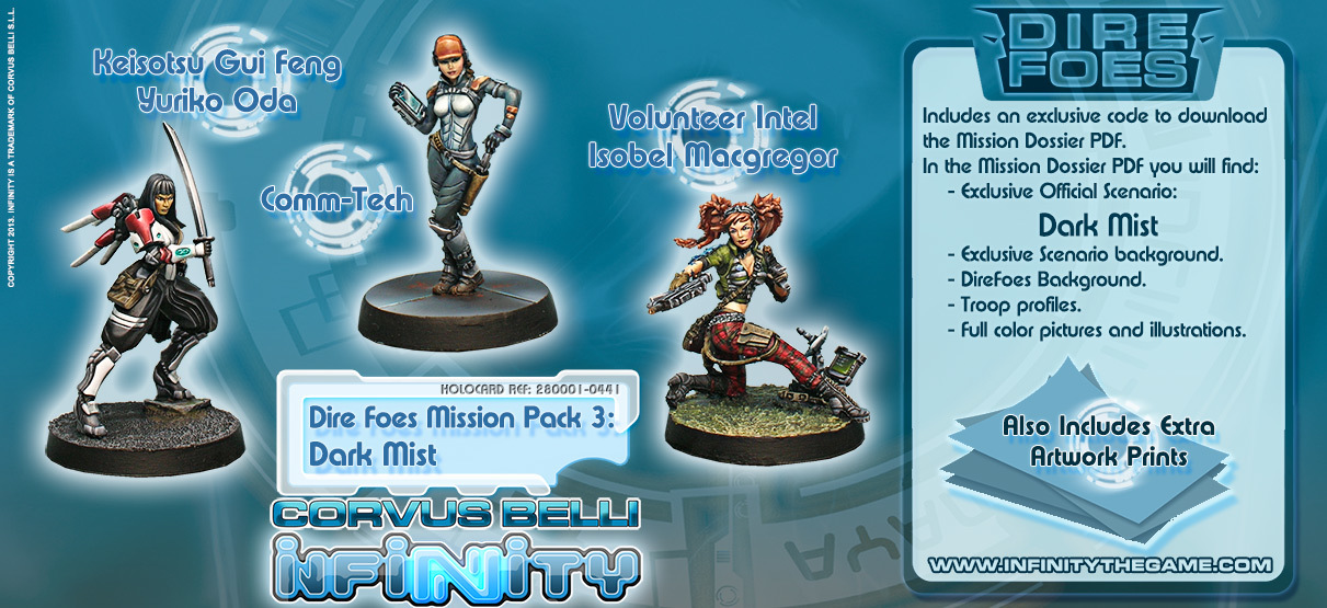 Dire Foes Mission Pack 3: Dark Mist - Mission Packs - Infinity 011003INF282001