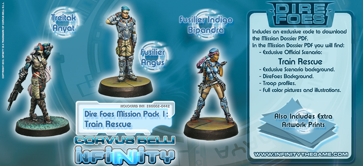 Dire Foes Mission Pack 1: Train Rescue - Mission Packs - Infinity 011003INF282002