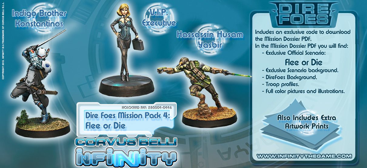 Dire Foes Mission Pack 4: Flee or Die - Mission Packs - Infinity 011003INF282004