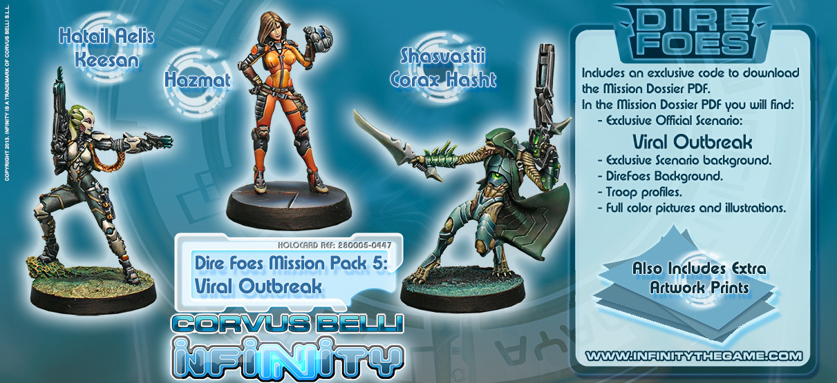 Dire Foes Mission Pack 5: Viral Outbreak - Mission Packs - Infinity 011003INF282005